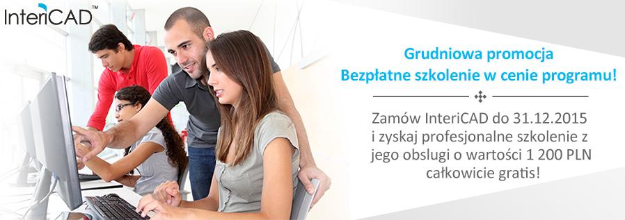 Grudniowa promocja InteriCAD – Bezpłatne szkolenie o wartości 1 200 PLN w cenie programu!