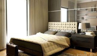 łóżko z zagłówkiem model 3D programd o projektowania wnętrz InteriCAD