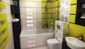 aranżacja małej łazienki w programie do wizualizacji InteriCAD