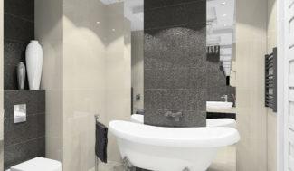 projekt łazienki z wanną wolnostjącą w programe 3D InteriCAD