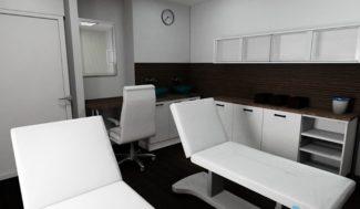 projekt gabinetu kosmetycznego w programie do projektowania wnętrz InteriCAD
