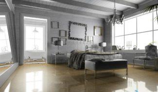 projekt sypialni 3D wizualizacja w porgramie do projektowania wnętrz InteriCAD