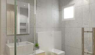 szkalny prysznic model 3D w programie do projektowania wnętrz InteriCAD