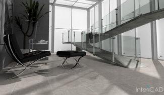 szklane balustrady program do projektowania schodów InteriCAD
