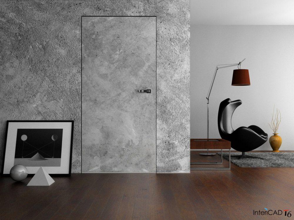 Drzwi ukryte zlicowaneze ścianą 2