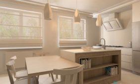 biała-kuchnia-z-drewna-wizualizacja-program-do-projektowania-wnętrz-InteriCAD