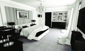 biało-czarna-sypialnia-projekt-w-programie-do-projektowania-wnętrz-InteriCAD