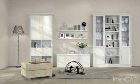 biały-kredens-model-3D-wizualizacja-w-porgramie-do-projektownania-wnętrz-InteriCAD