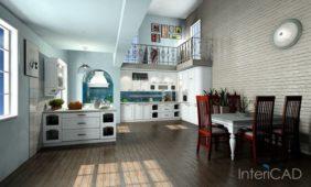 drewniana-podłoga-w-kuchni-program-do-projektowania-wnętrz-InteriCAD