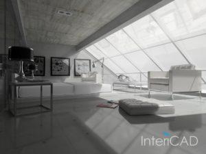 salon-na-podddaszu-wizualizacja-w-programie-do-projektowania-wnętrz-InteriCAD