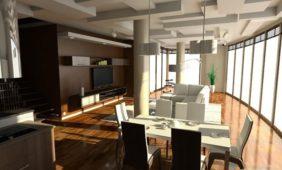 salon-z-aneksem-kuchenny-w-programie-o-projektowania-wnętrz-InteriCAD