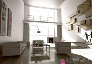 salon-z-antresolą-aranżacja-w-programie-do-projektowania-wnętrz-InteriCAD