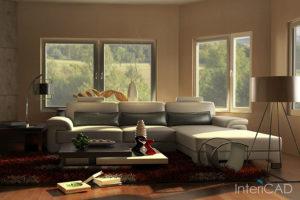 salon-z-białą-sofą-wizualizacja-w-programie-do-projektowania-wnętrz-InteriCAD
