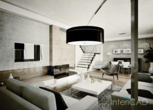 schody-drewniane-otwarte-w-programie-do-projektowania-wnętrz-InteriCAD