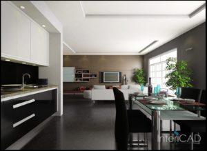 wizualizacja-kuchni-w-3D-w-programie-do-projektowania-wnętrz-InteriCAD