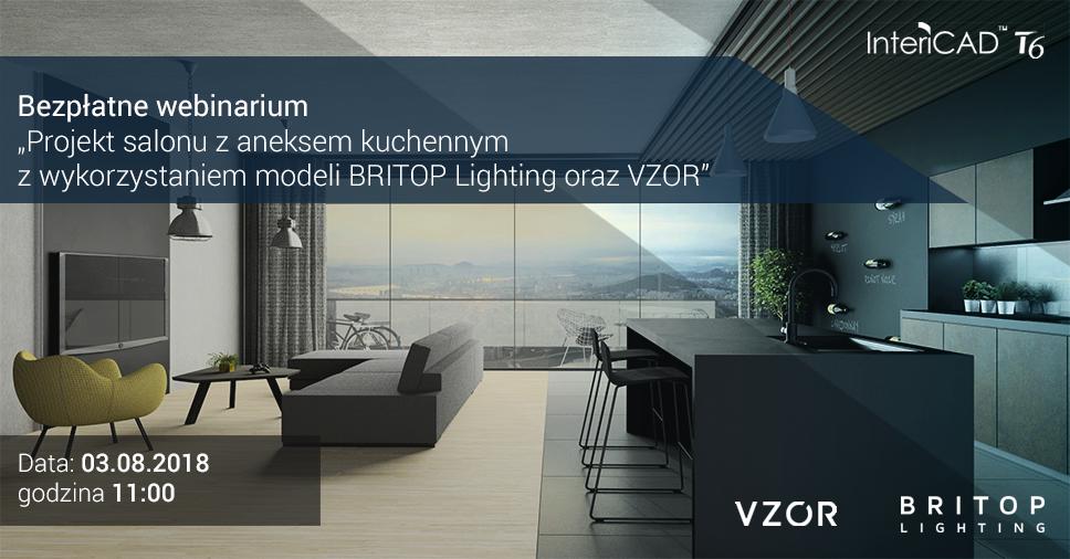 Webinarium: Projekt salonu z aneksem kuchennym z wykorzystaniem modeli BRITOP Lighting oraz Vzór