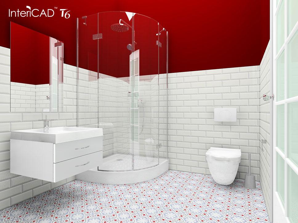 Akademia InteriCAD – Projekt małej łazienki