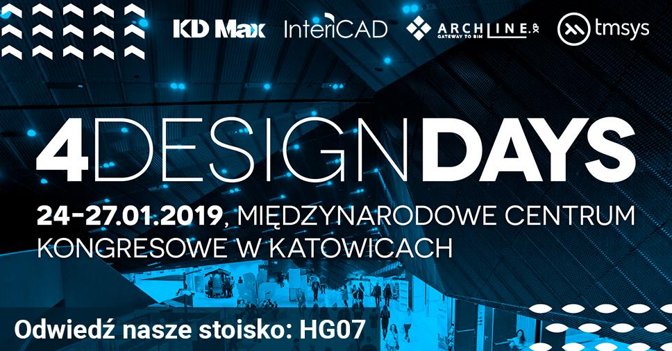 Odwiedź stoisko InteriCAD podczas targów 4 Design Days 2019 w Katowicach